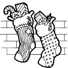 Small Picture Stockings Full of Christmas Presents Coloring Pages Coloring Pages