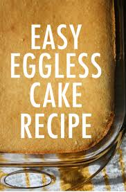 An Easy Eggless Vanilla Cake Recipe
