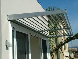 aluminium cantilevered awnings in