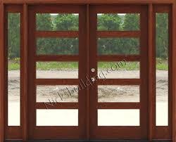 craftsman double wood door with sidelights exterior wood doors with glass art glass modern exterior doors