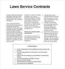 Landscaping Contracts Templates Landscape Forms Examples Of Awesome