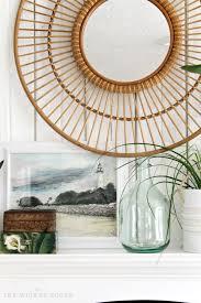 mirrors outstanding rattan mirror ikea target round decorative wall mirror threshold