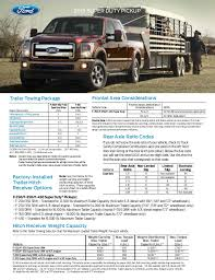 F350 Towing Capacity Chart 2015 Ford Super Duty Truck Towing Capacity Information