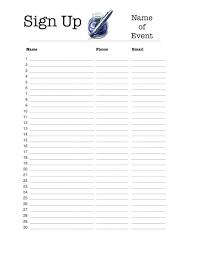 Raffle Sign Up Sheet Template Raffle Sign Sdesigns