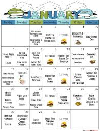 Meal Budget Planner January 2019 Meal Planner Monthly Meal Planner Weekly