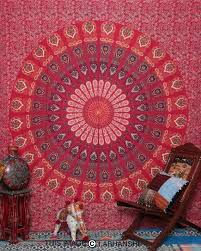 red wall tapestry mandala tapestry beautiful mandala hippie hippy wall hanging queen ethnic decorative art on red wall tapestry