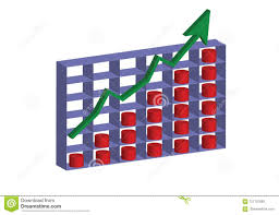 Stock Chart Up A 3d Stock Chart Going Up Stock Vector Illustration Of