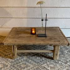 rustic vintage coffee table claudine