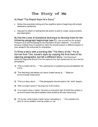 essay sad story spmp speech presentation step by step guide to   essays on a sad story essay