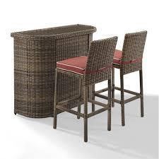 3 piece patio bar set.  Set Intended 3 Piece Patio Bar Set
