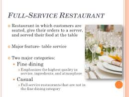 fine dining proper table service. full-service restaurant fine dining proper table service