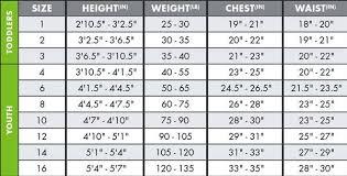 Oneill Apparel Size Chart