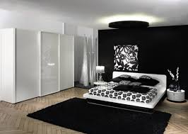 Black And White Bedroom Beauteous Black And White Interior Design ...