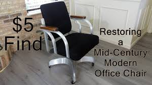 mid century modern office chairs. Repairing \u0026 Restoring A Mid-Century Modern Office Chair - Found For $5 Mid Century Chairs