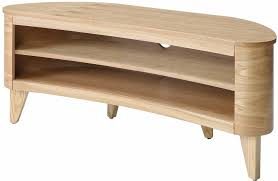 san francisco curved tv stand walnut or