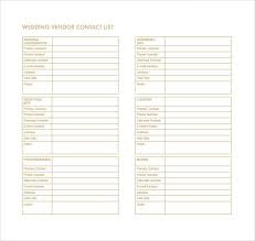 10 Contact List Template Word Excel Pdf Templates Www