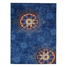 ottomanson studio collection blue medallion design 3 3 x5 0 area rug ottomanson