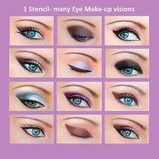 quick eye makeup stencils eyeliner eye shadow eyebrow tool es1 ebay