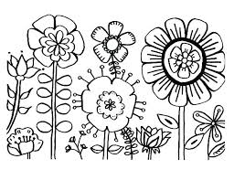 Printable Coloring Pages Of Flowers And Butterflies Printable Flowers Coloring Pages Nsso Info