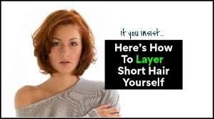 to cut short hair in layers with scissors