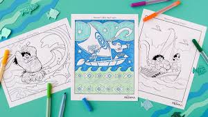 Free printable disney moana 2 coloring page for kids of all ages. Moana Coloring Pages Disney Family