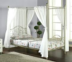 Bed Frame With Curtains Canopy Bed Curtain Canopy Bed Metal Frame ...