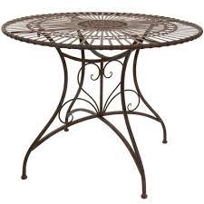 wrought iron indoor furniture. oriental furniture rustic circular garden table rust patina wrought iron indoor h
