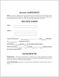 Investor Agreement Template Company Investors 10 Seogreat Info