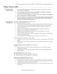 Nurse Resume Format Sample Professional Resume Cover Letter