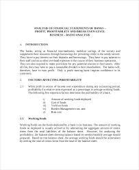 financial analysis example 17 financial statement analysis example free premium templates