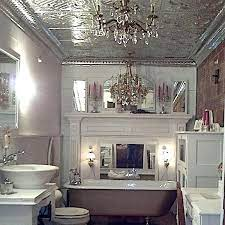 Have You Ever Wondered If It Is Possible To Add A Bit Of Sparkle To Your Bathroom Ceilings With Metal Ceil Tin Ceiling Tiles Tin Ceiling Faux Tin Ceiling Tiles