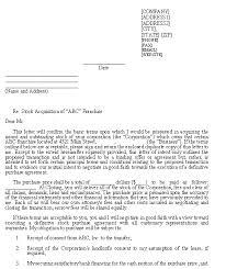 Sample Letter Of Intent Franchise Purchase Via Stock