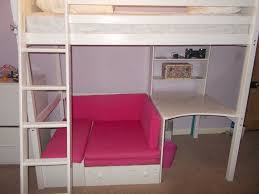 high sleeper bed with desk and sofa bed underneath