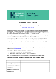 Call For Speakers Proposal Template
