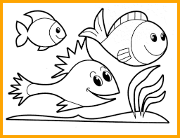 It weighs over 25 tons and eats mainly plankton. Cartoon Fish To Color Page 1 Line 17qq Com