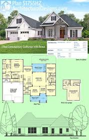 house plans with bonus room. Delighful Plans Plan 51755HZ 3 Bed Contemporary Craftsman With Bonus Over Garage  Home  Building Pinterest Architectural Design House Plans Rooms And  On House Plans With Room N