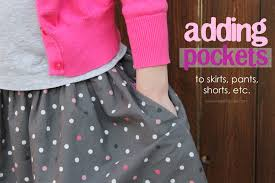 Skirt Patterns With Pockets Magnificent Adding Hidden Side Pockets To Anything Skirt Pants Shorts Etc