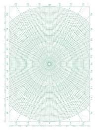 Vector Green Polar Coordinate Circular Grid Graph Paper Graduated