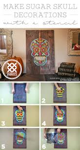 cutting edge stencils shares how to stencil day of the dead dia de los muertos