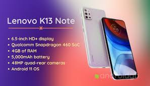 Lenovo K13 Note with Snapdragon 460 SoC ...