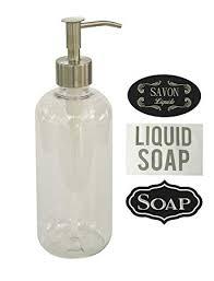 Amazon.com: Milkweed Farms Clear Plastic Soap Dispenser With ...