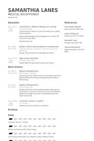 Medical Receptionist Resume samples - VisualCV resume samples database