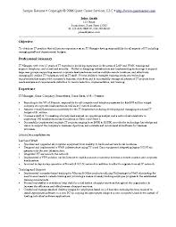 Technical Resume Samples Experience Resumes