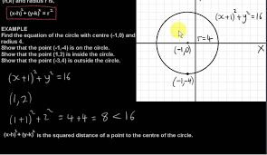 points inside outside and on a circle