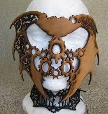 custom made steampunk fantasy leather mask