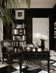 black and white formal home office black and white home office