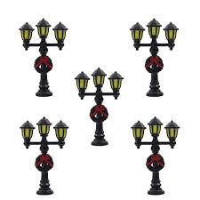 O Scale Street Lights Lyc08 5pcs Model Railway Christmas Lamp Post Street Lights O