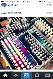 nail polish essie storage in travel make up case image only