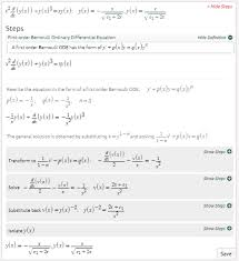 as long as you memorize bernoulli s equation the equation in step 3 and how to solve linear first order diffeial equations bernoulli diffeial