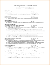 Teaching Resume Student Teacher Resume Examples Free Resume Templates Student 21